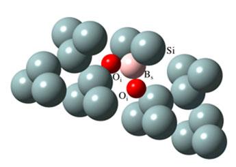 Boro y oxigeno en silicio