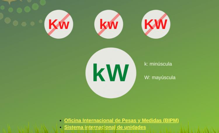 Como se escribe kW