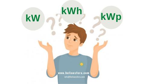 kW-kWh-kWp